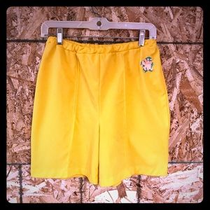Vintage yellow polyester shorts